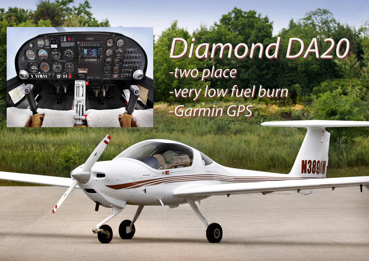 The Diamond 20 has a Garmin 430 GPS and a VOR with a glideslope.